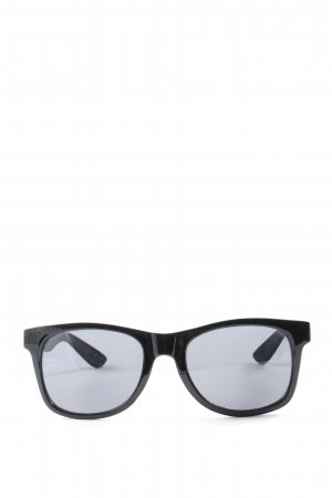Vans Hoekige zonnebril zwart casual uitstraling
