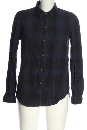 Vans Shirt Blouse blue-black check pattern casual look