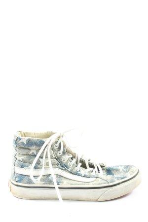 Vans High Top Sneaker blau-wollweiß Allover-Druck Casual-Look