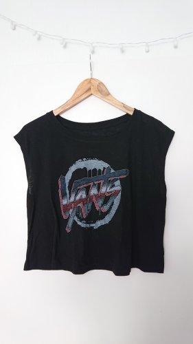 Vans Cropped shirt zwart-azuur