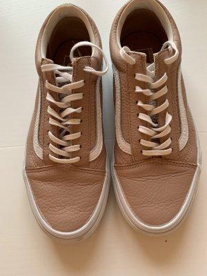 Vans Zapatos de patinador blanco-nude Cuero