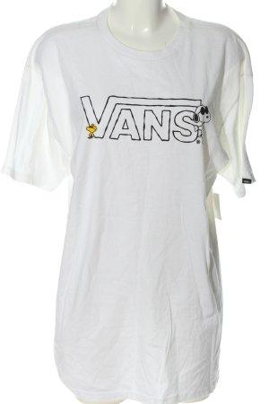 Vans Longshirt weiß Schriftzug gedruckt Casual-Look