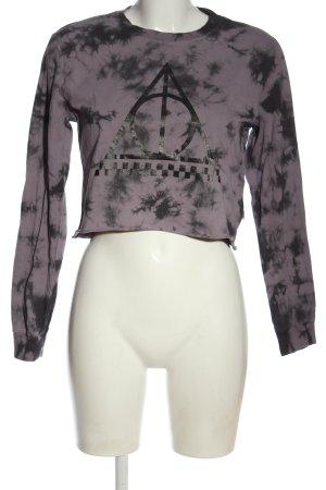 Vans Longsleeve lila-schwarz abstraktes Muster Casual-Look