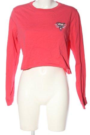 Vans Koszulka z długim rękawem różowy-czarny Nadruk z motywem W stylu casual