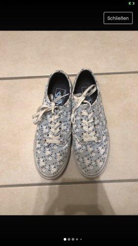 Vans Zapatos de patinador azul celeste-amarillo pálido