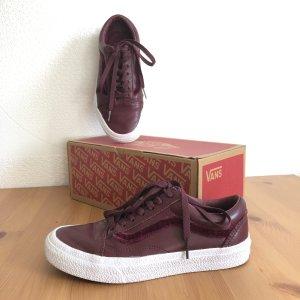 Vans Old Skool rot Gr  37 Port Royale dunkelrot Sneaker Skaterschuhe