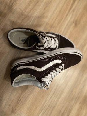 Vans Zapatos de patinador marrón oscuro-blanco puro