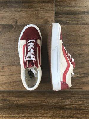 Vans Oldskool rot/weiß   G. 40