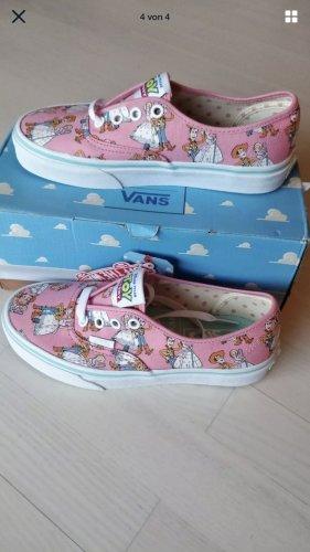 Vans Zapatos de patinador blanco-rosa claro tejido mezclado