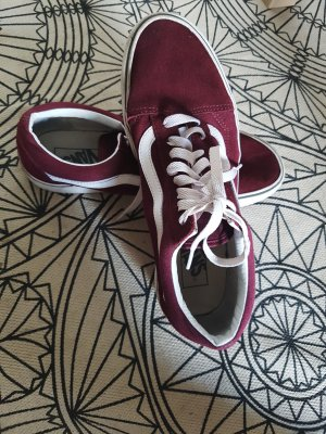 Vans Buty skaterskie bordo