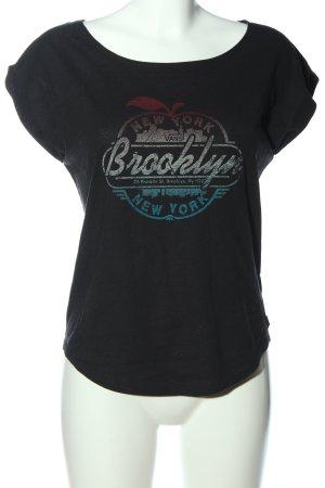Vans Print-Shirt schwarz Schriftzug gedruckt Casual-Look