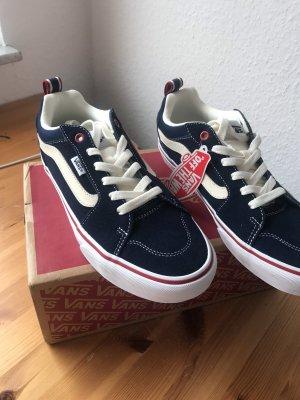 Vans Zapatos de patinador azul oscuro-rojo oscuro