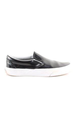 Vans Schlüpfsneaker schwarz-weiß Motivdruck Casual-Look