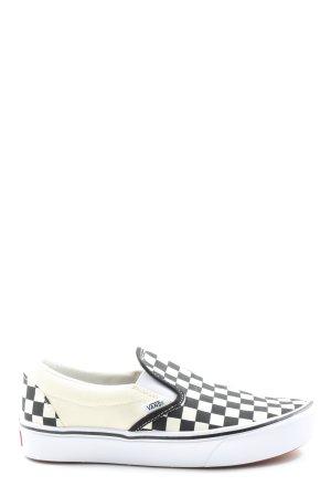 Vans Slip-on Sneakers black-white check pattern casual look