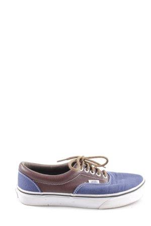 Vans Schnürschuhe blau-braun Casual-Look