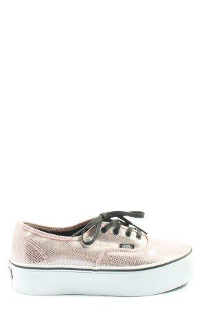 Vans Lace-Up Sneaker pink casual look