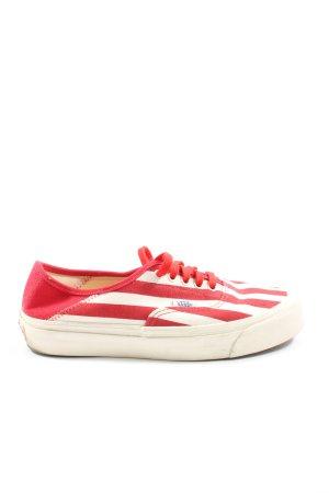 Vans Schnürsneaker rot-weiß Streifenmuster Elegant