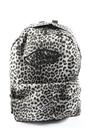 Vans School Backpack white-black animal pattern casual look