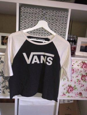 Vans Cropped shirt wit-zwart