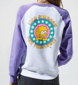 VANS Simpsons Shirt XS Pullover Lisa for President