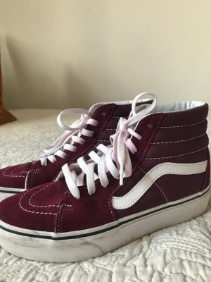 Vans High Top Sneaker bordeaux