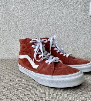 Vans High Top Sneaker cognac-coloured-russet leather