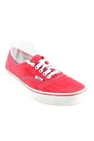 Vans Skaterschuhe rot-weiß Casual-Look