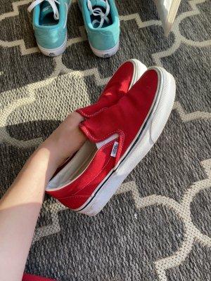 Vans Zapatos de patinador rojo oscuro-rojo