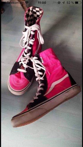 Vans Stiefeletten pink schwarz karomister