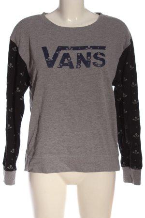 Vans Suéter gris claro-negro moteado look casual