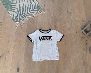 Vans T-shirt blanc-noir coton