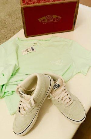 Vans Camiseta Básico verde pálido-blanco