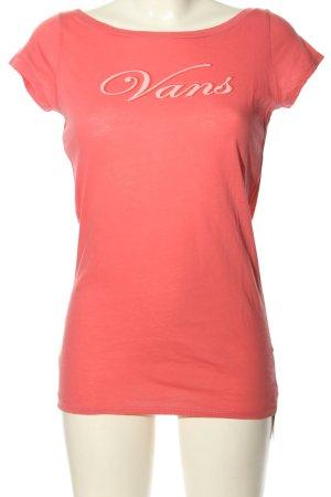 Vans T-Shirt hellorange Schriftzug gedruckt Casual-Look