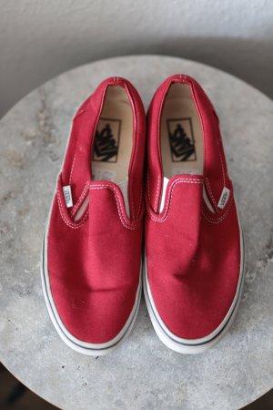 Vans Chaussure skate rouge tissu mixte
