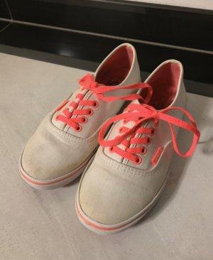 Vans Basket à lacet blanc rose