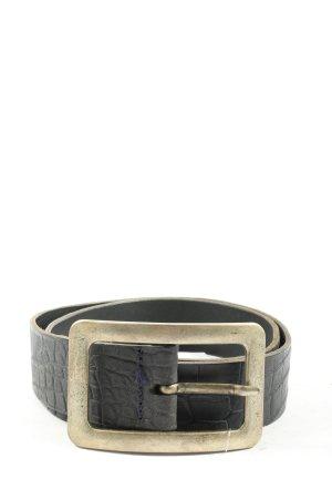 Vanzetti Klamra czarny-złoto Zwierzęcy wzór W stylu casual