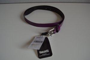 Vanzetti Leather Belt dark violet leather