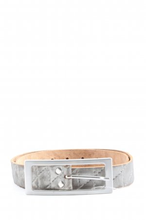 Vanzetti Cintura di pelle argento stile casual