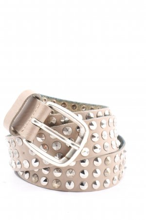 Vanzetti Leather Belt cream-silver-colored wet-look