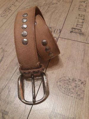Selection Vanzetti Leather Belt beige