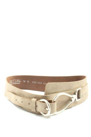 Vanzetti Cinturón de cuero blanco puro look casual