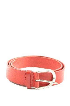 Vanzetti Cinturón de cuero rojo look casual