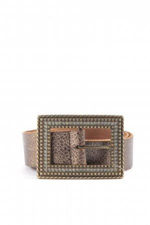 Vanzetti Leather Belt brown-silver-colored casual look