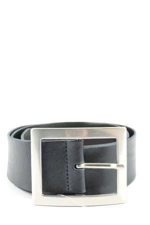 Vanzetti Cintura di pelle nero stile professionale