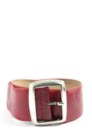 Vanzetti Cintura di pelle rosso stile professionale