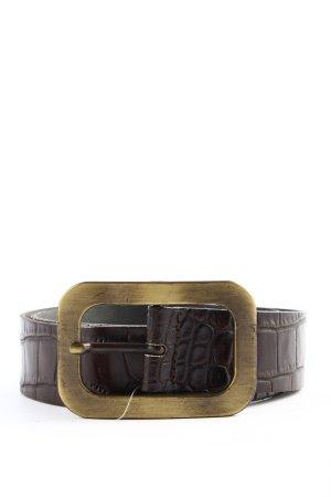 Vanzetti Leather Belt brown animal pattern casual look