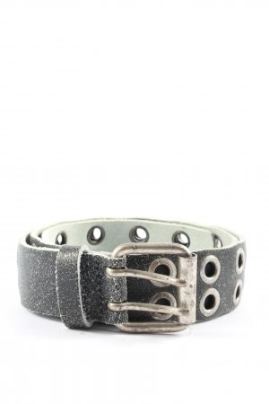 Vanzetti Leather Belt light grey-silver-colored casual look