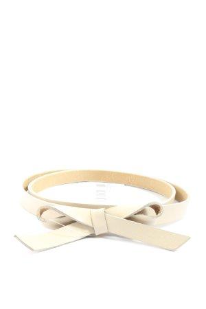 Vanzetti Cintura di pelle crema stile casual