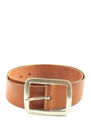 Vanzetti Cinturón de cuero marrón look casual