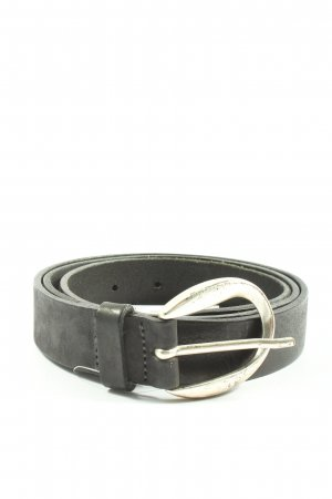 Vanzetti Cinturón de cuero negro look casual